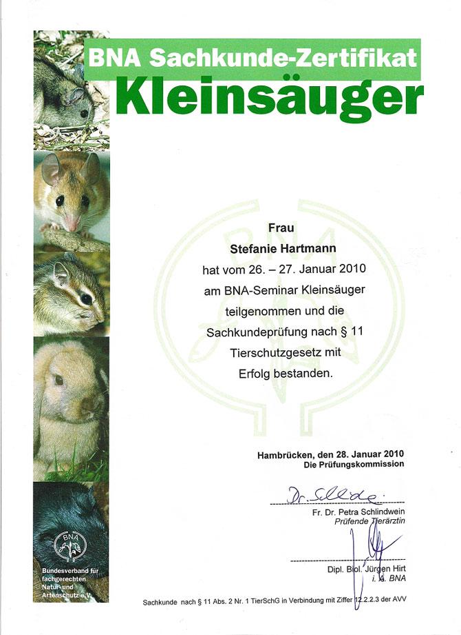 Qualifikationen Kleintierbetreuung